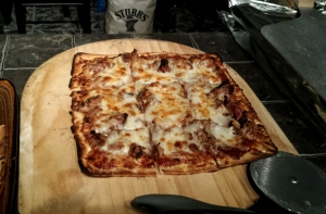 fire roasted thin pizza
